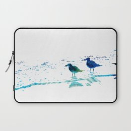 Seagull Art - On The Shore - By Sharon Cummings Laptop Sleeve