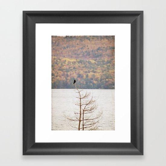 Fall Bird Framed Art Print