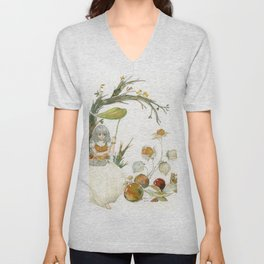 Beautiful Fairytale in Colourful Autumn Forest Unisex V-Neck