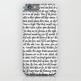 Love Letter Shakespeare Romeo & Juliet Pattern iPhone Case
