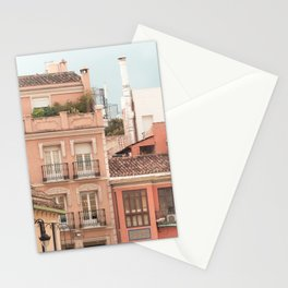Mediterranean City - Houses and Street Stationery Cards