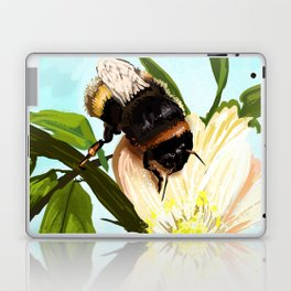 Bee on flower 4 Laptop & iPad Skin