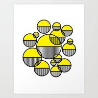 Venn Abstract Yellow Art Print