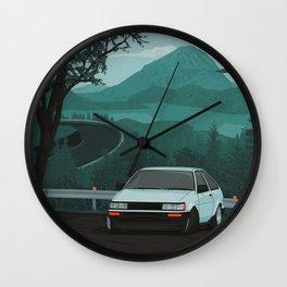 Mountain Pass Drift 01 Wall Clock