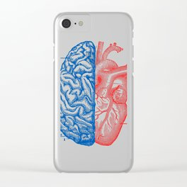 Heart and Brain Clear iPhone Case