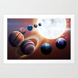 Planets Road Trip Art Print