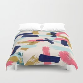 Bohemian tribal brush stroke Duvet Cover