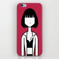 mia wallace iPhone & iPod Skins featuring Mia by Ale Giorgini