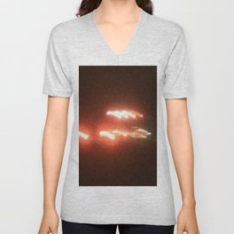 Abstracte Light Art in the Dark 19 Unisex V-Neck