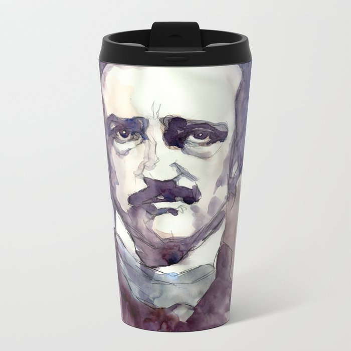 Edgar Allan Poe Metal Travel Mug