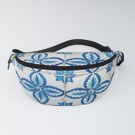 Blue and White Azulejos Tiles Fanny Pack