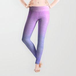 Colorful Watercolor Ombre Pattern Leggings