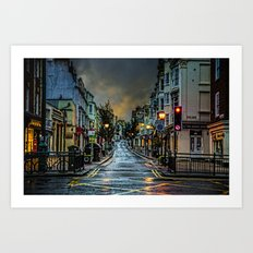 Wet Morning In Kemp Town Art Print