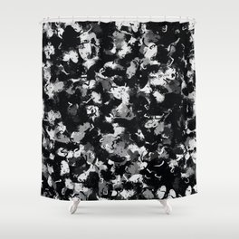 Shades of Gray and Black Oils #1979 Shower Curtain