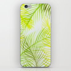 Painted Palm Fronds iPhone Skin