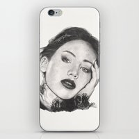 jennifer lawrence iPhone & iPod Skins featuring jennifer lawrence by als3