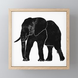 Elephant Stamp Framed Mini Art Print