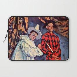 "Paul Cezanne ""Pierrot and Harlequin (Mardi gras)"", 1888 Laptop Sleeve"