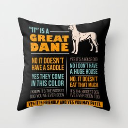 Great Dane Dog Puppy Gift for Dog Lovers & Owners Throw Pillow