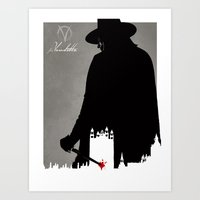 vendetta Art Prints featuring Vendetta by Fan Prints