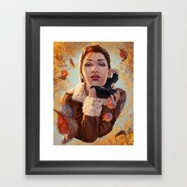 Tomb Raider: Bomber Jacket Framed Art Print
