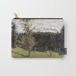 1870-Claude Monet-Train in the Countryside-50 x 65 Carry-All Pouch
