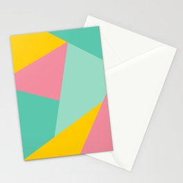 Bight Abstract Geometric Pattern Stationery Cards