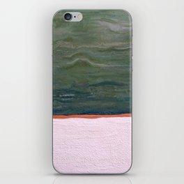 Northern Lights (green) Original Encaustic Painting iPhone Skin