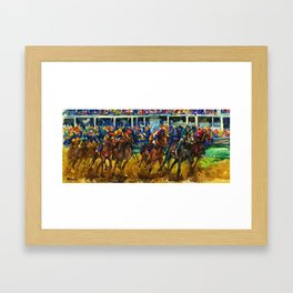 The Race No. 2 by Kathy Morton Stanion Framed Art Print