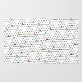 Triangulated Colours Rug