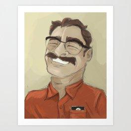 Portrait of Joaquin Phoenix from the movie Her Art Print