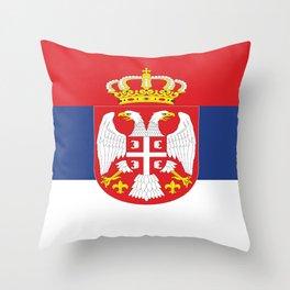 flag of Serbia-balkan,serbian,europe,yugoslavia, Pannonian,Belgrade,Novi Sad,nis,kragujevac Throw Pillow