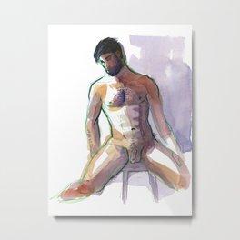 BRADLEY, Nude Male by Frank-Joseph Metal Print