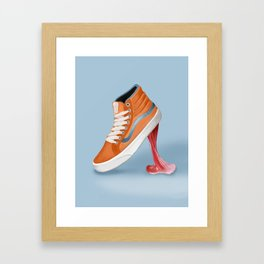 Vans funny moments Framed Art Print