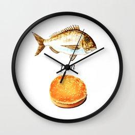 Fish Pon Bun Wall Clock
