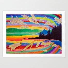 Picnic Point Art Print