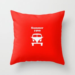 Summer 1969 - red Throw Pillow