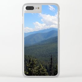 Summer Mountains Clear iPhone Case