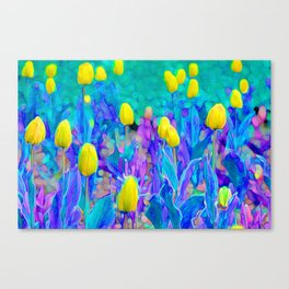 Funky Tulips Canvas Print