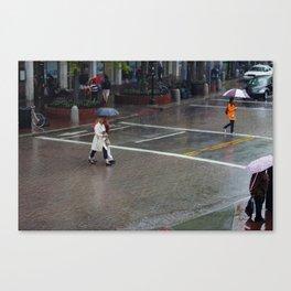 Harvard Square - Rainy Day Canvas Print