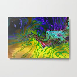 Trippy Turbulence in the Coral Reef Metal Print