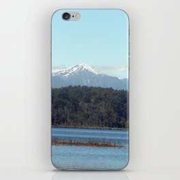 The New  Zealand Alps over a lake iPhone Skin
