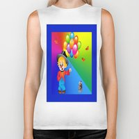 clown Biker Tanks featuring Clown by Art-Motiva