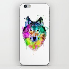 Wolf Watercolor, Wolf Painting, Wolf Portrait, Wolf art, Wolf illustration iPhone Skin