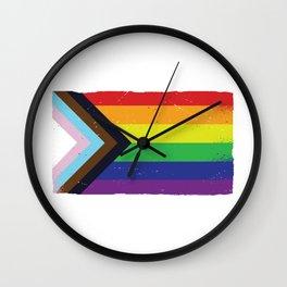 LGTBQ BLACK PRIDE FLAG Wall Clock