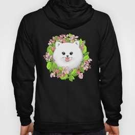 Pomeranian in flowers Hoody