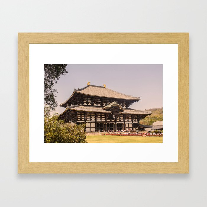 Nara temple Kyoto Japan Ninja Photo Framed Art Print
