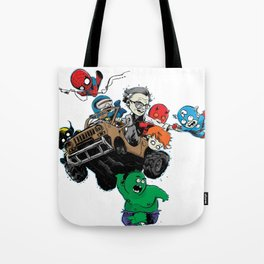 Baby Stan Lee and Friends Tote Bag