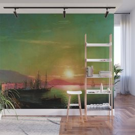Sunrise in Feodosia on the Black Sea by Ivan Aivazovsk Wall Mural