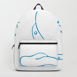 Labrador Eyes Popping Off Drawing Backpack